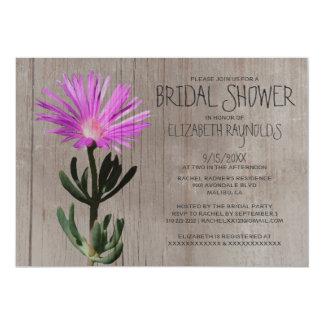 Invitaciones nupciales de la ducha de la planta invitación 12,7 x 17,8 cm