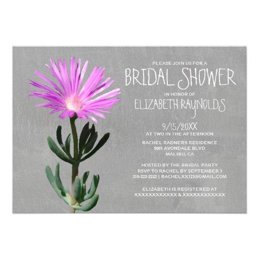 Invitaciones nupciales de la ducha de la planta su anuncio personalizado