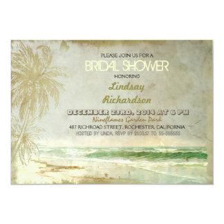 invitaciones nupciales de la ducha de la playa invitación 12,7 x 17,8 cm