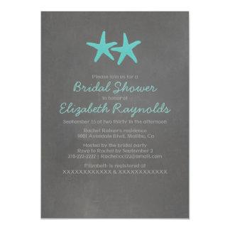 Invitaciones nupciales de la ducha de la playa de invitación 12,7 x 17,8 cm