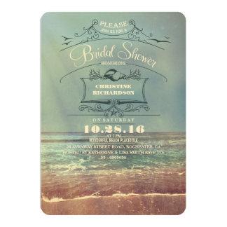 Invitaciones nupciales de la ducha de la playa del anuncio personalizado