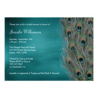 Invitaciones nupciales de la ducha de la pluma invitacion personalizada