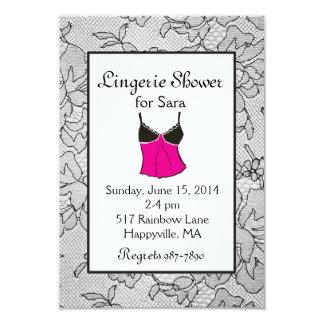 Invitaciones nupciales de la ducha de la ropa invitación