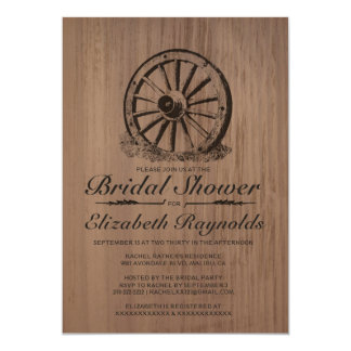 Invitaciones nupciales de la ducha de la rueda de invitación 12,7 x 17,8 cm