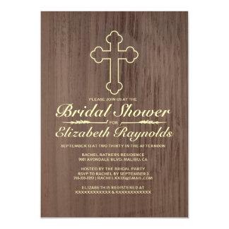 Invitaciones nupciales de la ducha de la vieja invitación 12,7 x 17,8 cm