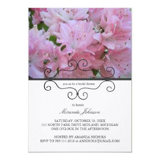 Invitaciones nupciales de la ducha de las azaleas invitación 12,7 x 17,8 cm