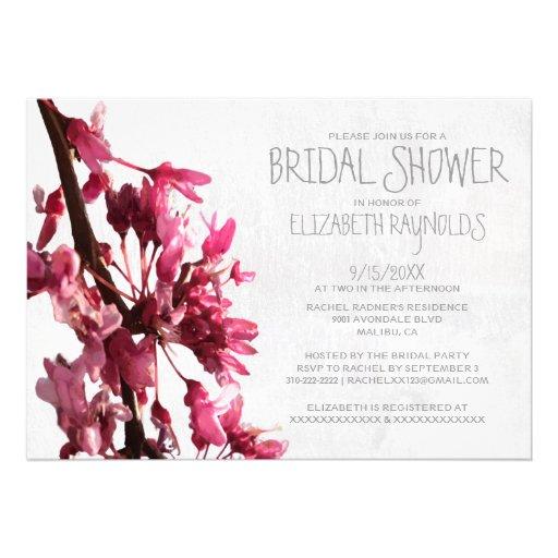 Invitaciones nupciales de la ducha de las flores d comunicados personalizados