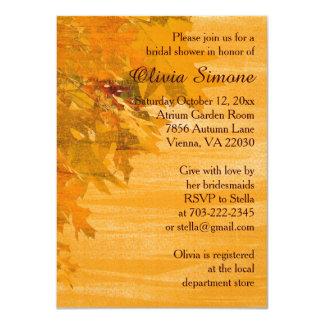 Invitaciones nupciales de la ducha de las hojas de invitación 11,4 x 15,8 cm