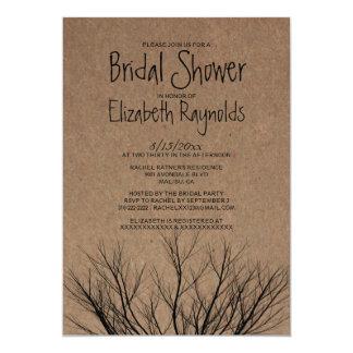 Invitaciones nupciales de la ducha de las ramas de comunicados personales