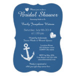 Invitaciones nupciales de la ducha de los azules invitación