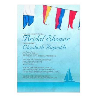"""Invitaciones nupciales de la ducha de los barcos invitación 5"""" x 7"""""""