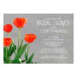 Invitaciones nupciales de la ducha de los tulipane