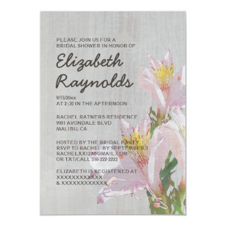 Invitaciones nupciales de la ducha del invitación 12,7 x 17,8 cm