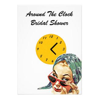 Invitaciones nupciales de la ducha del anfitrión l comunicados personalizados