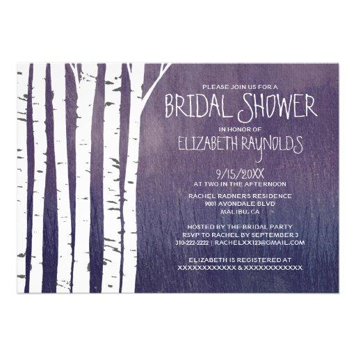Invitaciones nupciales de la ducha del árbol de ab