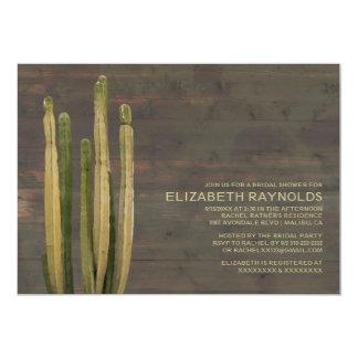 Invitaciones nupciales de la ducha del cactus invitación