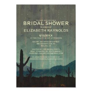 Invitaciones nupciales de la ducha del cactus comunicado