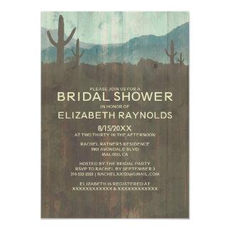 Invitaciones nupciales de la ducha del cactus del comunicado personalizado