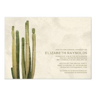 Invitaciones nupciales de la ducha del cactus del comunicado
