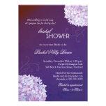 Invitaciones nupciales de la ducha del ciruelo ele