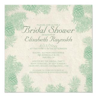 """Invitaciones nupciales de la ducha del cono invitación 5.25"""" x 5.25"""""""
