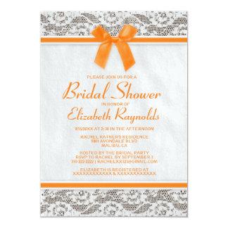 Invitaciones nupciales de la ducha del cordón invitación 12,7 x 17,8 cm