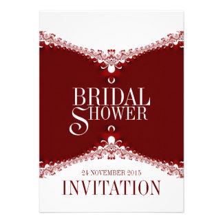 Invitaciones nupciales de la ducha del cordón eleg
