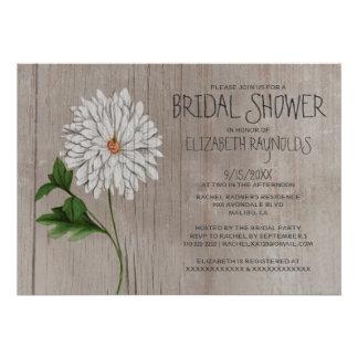 Invitaciones nupciales de la ducha del crisantemo