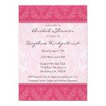Invitaciones nupciales de la ducha del damasco invitacion personal