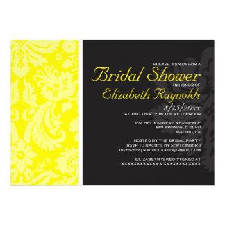 Invitaciones nupciales de la ducha del damasco ama