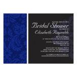 Invitaciones nupciales de la ducha del damasco de  invitacion personalizada