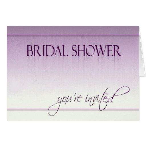 Invitaciones nupciales de la ducha del día lluvios tarjeta pequeña