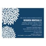 Invitaciones nupciales de la ducha del diseño flor invitación personalizada