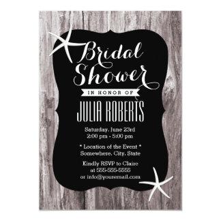 """Invitaciones nupciales de la ducha del Driftwood Invitación 5"""" X 7"""""""
