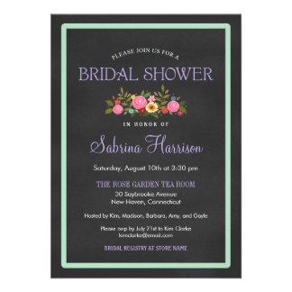 Invitaciones nupciales de la ducha del estilo flor invitacion personalizada
