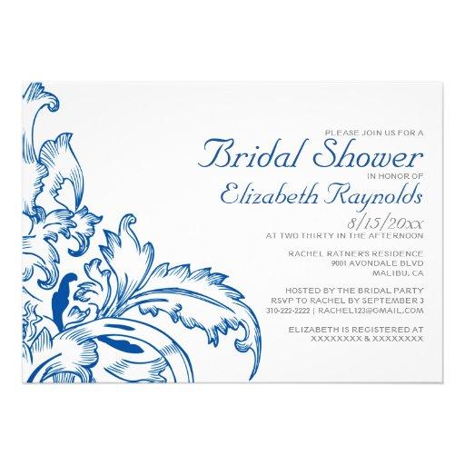 Invitaciones nupciales de la ducha del Flourish de