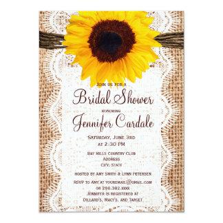 Invitaciones nupciales de la ducha del girasol invitaciones personales