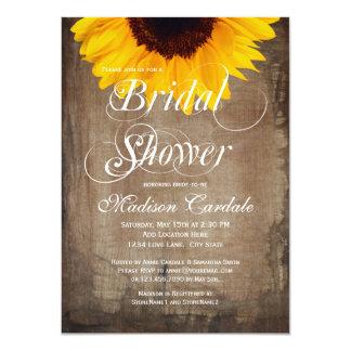 Invitaciones nupciales de la ducha del girasol invitacion personalizada