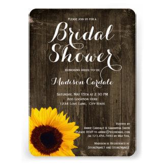 Invitaciones nupciales de la ducha del girasol de