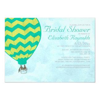 Invitaciones nupciales de la ducha del globo del invitación 12,7 x 17,8 cm