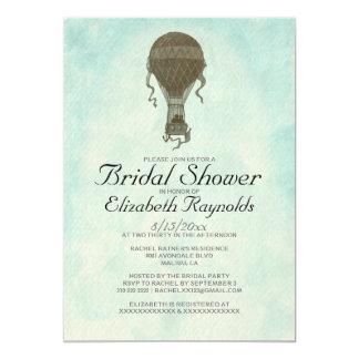 Invitaciones nupciales de la ducha del globo del comunicado personal