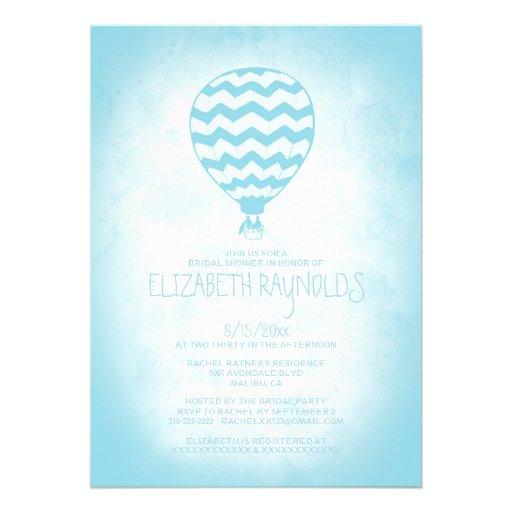 Invitaciones nupciales de la ducha del globo elega anuncio personalizado
