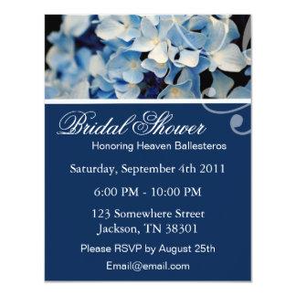 Invitaciones nupciales de la ducha del Hydrangea Comunicado Personalizado
