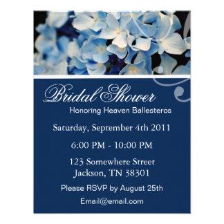 Invitaciones nupciales de la ducha del Hydrangea e Comunicado Personalizado