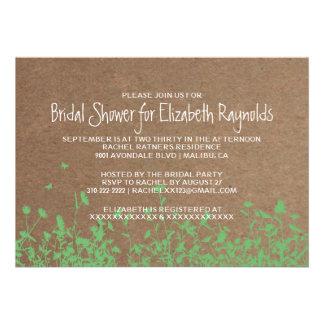 Invitaciones nupciales de la ducha del jardín