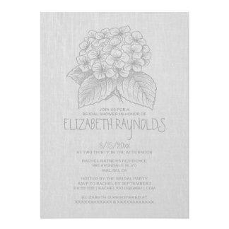 Invitaciones nupciales de la ducha del jardín eleg