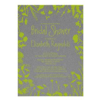Invitaciones nupciales de la ducha del jardín rúst