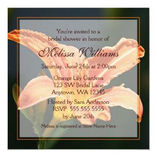 Invitaciones nupciales de la ducha del lirio invitación 13,3 cm x 13,3cm