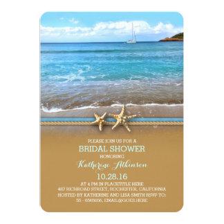 Invitaciones nupciales de la ducha del mar de la invitación 12,7 x 17,8 cm