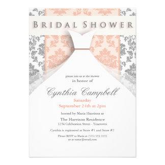 Invitaciones nupciales de la ducha del melocotón d invitacion personal